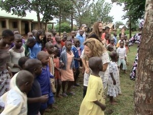 Suffolk Univeristy group visiting an orphanage in Busia, Uganda