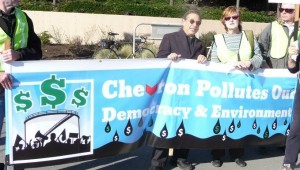Chevron Rally: Money OUT, Voters IN! 1-19-13