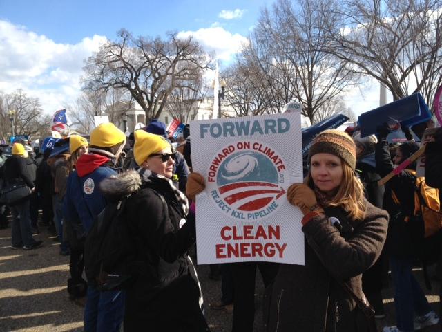 Carleen Pickard at Climate Rally DC