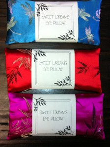 Sweet Dreams lavender eye pillows handmade in San Francisco