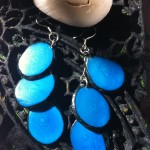 Tagua Earrings in Stunning Spring Time Turquoise