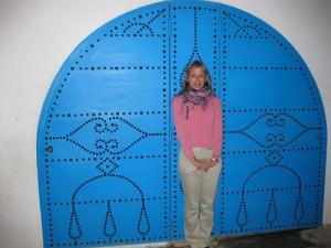 Medea Benjamin in Tunisia. Photo Credit: codepinkhq