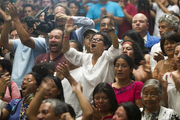 Reaction in the court room to the guilty verdict. Photo credit: AP
