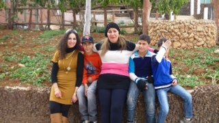 Plaintiff Sundus Saleh with her four children