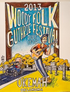 Woody Guthrie Festival poster