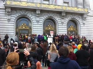 Trayvon Martin rally in San Francisco, July 2013
