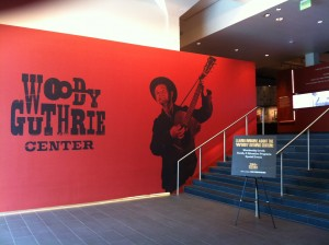 The entry way to the Woody Guthrie Center in Tulsa, OK.
