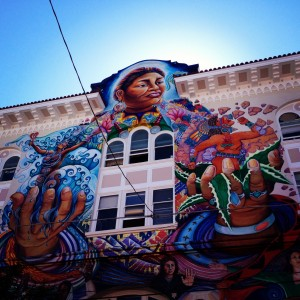The mural on the front of the Women's Building. - Photo by Katie Koerper