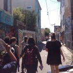 The group of interns walking up Clarion Alley. - Photo by Katie Koerper
