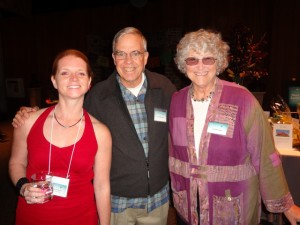 David Hartsough (middle) with wife Jan Hartsough (right) and Carleen Pickard (left) at Global Exchange's 2013 Human Rights Awards