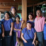 Jocelyn Boreta, buyer for the Global Exchange Fair Trade Stores, with artisan partners in Guatemala
