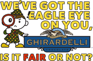 Color-in postcard to send to Ghirardelli's