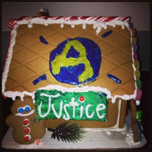 Justice-Gingerbread-house