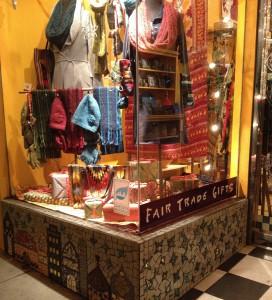 Global Exchange San Francisco Fair Trade Store front window display--winter 2013