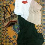 Indigenous organic cotton skirts and organic cotton knits from Peru