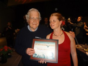 Prof Noam Chomsky at the 25th Anniversary Human Rights Awards