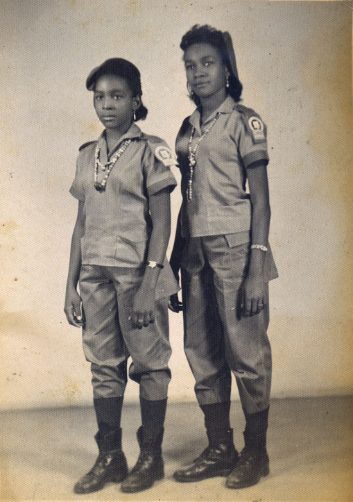 Norma Guillard and her sister, 1961