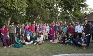 Prince Charles and Vandana Shiva, Global Exchange delegation, other visitors and Navdanya staff.