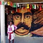 Photo Contest - Zapatista in Front of Zapata, Oventic Mex Jan05 Sandi Hammonds