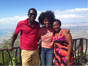 Soulouque, myself, and Réa overlooking Haiti
