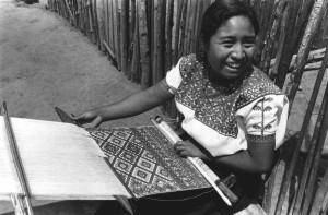 Woman Weaving BW